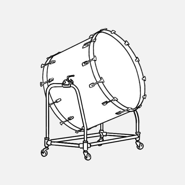 19 bass drum