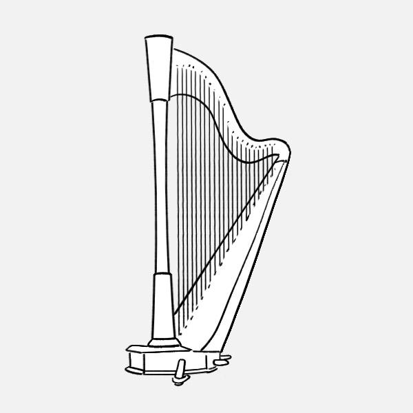 25 harp