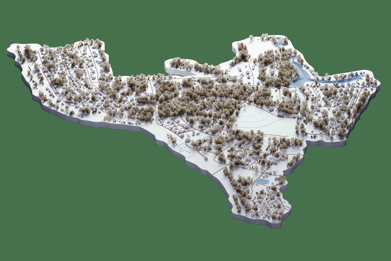 Карта Переделкино