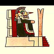 «Владыка загробного мира Миктлантекутли напоминает земным правителям о том, что их власть преходяща» — стикер для Viber и Telegram из набора «Кодекс Лауда»