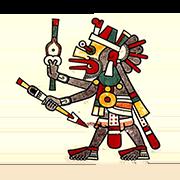 «Кетцалькоатль, один из верховных богов ацтеков, в своем мирском обличье» — стикер для Viber и Telegram из набора «Кодекс Лауда»