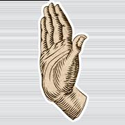 «Сдерживаю» — стикер для Viber и Telegram из набора «Руки Булвера»