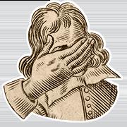 «Пристыжен» — стикер для Viber и Telegram из набора «Руки Булвера»