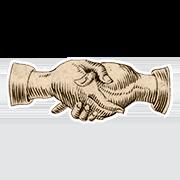 «Мирюсь» — стикер для Viber и Telegram из набора «Руки Булвера»