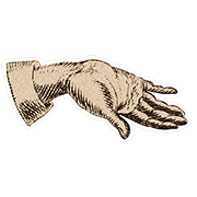 «Показываю неимение» — стикер для Viber и Telegram из набора «Руки Булвера»