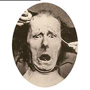 «Ужас» — стикер для Viber и Telegram из набора «Эмоции Дарвина»