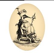 «Король острова Пингвинов» — стикер для Viber и Telegram из набора «Животные Гранвиля»