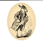 """«Академик """"во всеоружии своих сочинений""""» — стикер для Viber и Telegram из набора «Животные Гранвиля»"""