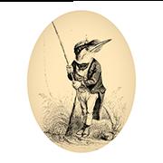 «Зимородок-рыбак» — стикер для Viber и Telegram из набора «Животные Гранвиля»