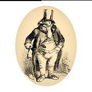 «Жестокосердный квартировладелец господин Ястреб» — стикер для Viber и Telegram из набора «Животные Гранвиля»