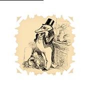 «45-летний повеса» — стикер для Viber и Telegram из набора «Животные Гранвиля»