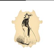 «Петух-дуэлянт» — стикер для Viber и Telegram из набора «Животные Гранвиля»
