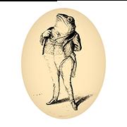 «Тритон, призывающий служить Отечеству» — стикер для Viber и Telegram из набора «Животные Гранвиля»