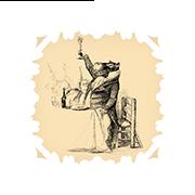 «Гиппопотам произносит тост» — стикер для Viber и Telegram из набора «Животные Гранвиля»