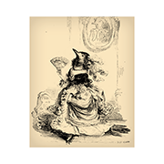 «Ворона» — стикер для Viber и Telegram из набора «Животные Гранвиля»
