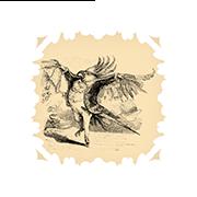 «Какаду-поэт» — стикер для Viber и Telegram из набора «Животные Гранвиля»