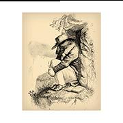 «Печальный Медведь в горах» — стикер для Viber и Telegram из набора «Животные Гранвиля»