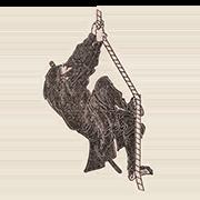 """«Ниндзя» — стикер для Viber и Telegram из набора «""""Манга"""" Хокусая»"""