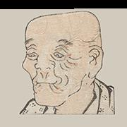 """«Слепец» — стикер для Viber и Telegram из набора «""""Манга"""" Хокусая»"""