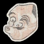 """«Хёттоко, комическая мужская маска театра кёгэн» — стикер для Viber и Telegram из набора «""""Манга"""" Хокусая»"""