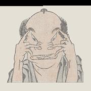 """«Актер» — стикер для Viber и Telegram из набора «""""Манга"""" Хокусая»"""