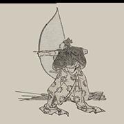 """«Лучник» — стикер для Viber и Telegram из набора «""""Манга"""" Хокусая»"""