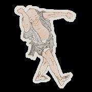 """«Танец» — стикер для Viber и Telegram из набора «""""Манга"""" Хокусая»"""