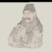 """«Гуань Юй, китайский военачальник» — стикер для Viber и Telegram из набора «""""Манга"""" Хокусая»"""