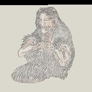 """«Фу Си, легендарный китайский правитель» — стикер для Viber и Telegram из набора «""""Манга"""" Хокусая»"""