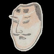 """«Тюдзё, маска аристократа в театре но» — стикер для Viber и Telegram из набора «""""Манга"""" Хокусая»"""