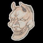 """«Хання, маска духа ревнивой женщины в театре но» — стикер для Viber и Telegram из набора «""""Манга"""" Хокусая»"""